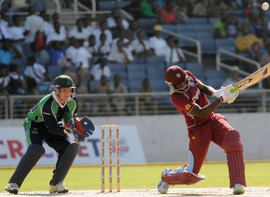 Andre Russell: bowled by Tim Murtagh for just eight runs.
