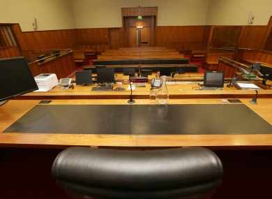 Court 19 at the Circuit Criminal Court where the trial is taking place