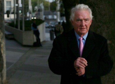 Former chairman of Anglo leaving court last month.