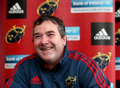 Foley faces the media at this afternoon's announcement in UL.