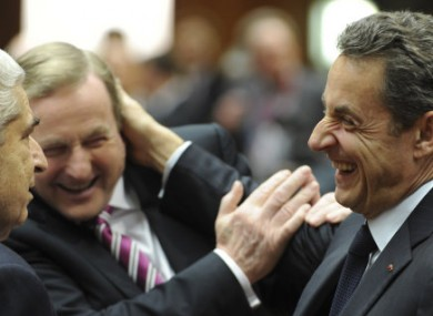 The Dáil will talk about Ireland's enagagement with Europe today, much like Enda Kenny's engagement with former French President Nicolas Sarkozy.