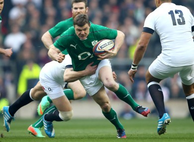Brian O'Driscoll plays at Twickenham for the final time today.
