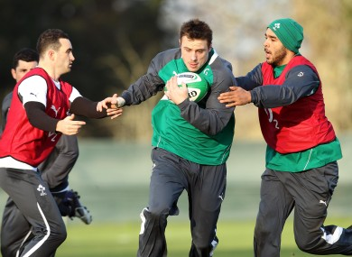 Dave, Tommy and Simon in training in 2012.