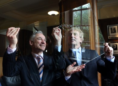 Dragon's Den star Sean O Sullivan (right) will be in Leinster House today.