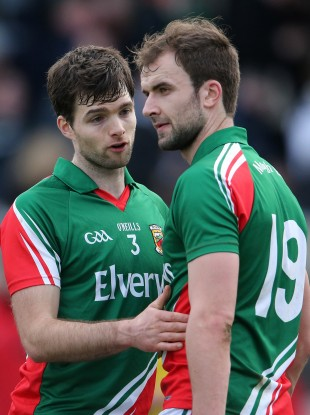 Gibbons, right, scored Mayo's opening goal against Kildare.