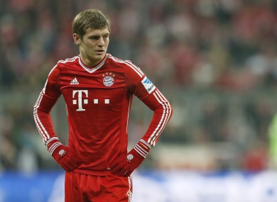 Kroos has yet to sign a new deal at Bayern.