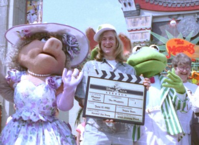 John Henson with Miss Piggy and Kermit in Florida in June 1990.