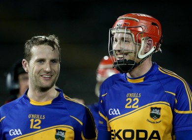 Tipperary's Kieran Bergin and Denis Maher were delighted after the game.