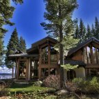 The 4,100-square-foot condo is located on the western shores of Lake Tahoe in a private gated community known as Fleur du Lac Estates.<span class=