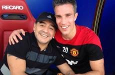 Sign him up, Moyesie! Maradona shows up at Man United's Dubai training camp