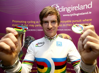 Irvine: won world gold and silver in Belarus last year.
