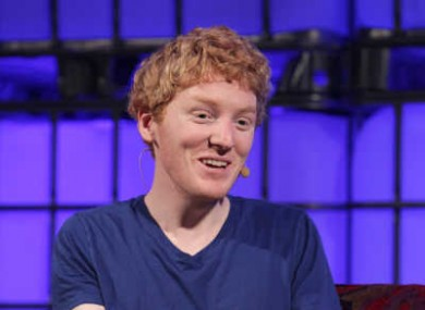 Stripe co-founder Patrick Collison at the Web Summit 2013.