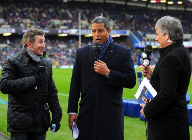 BBC Rugby experts Jonathan Davies and Jeremy Guscott talk to presenter John Inverdale.