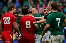 Scott Williams leaves Lansdowne Road with shoulder in a sling after BOD tackle