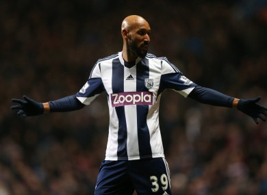 West Bromwich Albion's Nicolas Anelka has been suspended indefinitely by the club.