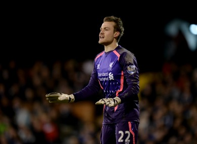 Simon Mignolet, Liverpool goalkeeper.