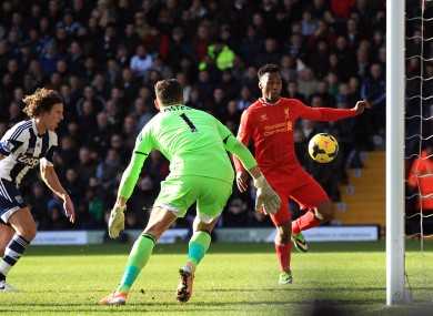 Sturridge: on the scoresheet again but it wasn't enough to give Liverpool maximum points.