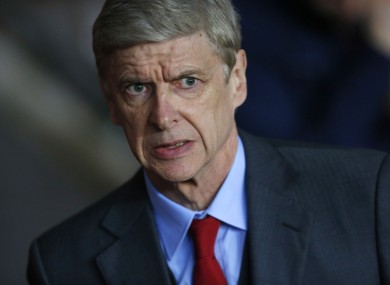 Focused: Arsenal manager Arsene Wenger: