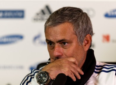 Mourinho: lashed out during today's press conference.