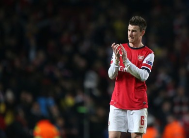 Arsenal's Laurent Koscielny reportedly earns £2.6m a year.