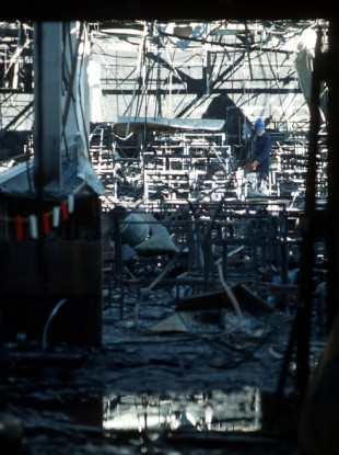 The interior of the Stardust which went on fire on the morning St. Valentines Day, killing 48 people.