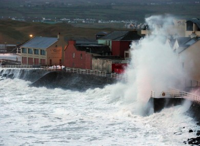Waves at Lahinch in Co Clare
