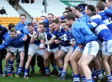 Vincent's celebrate their Leinster SFC title - but will they be smiling against Ballinderry tomorrow?