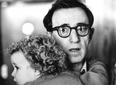 Woody Allen with Dylan Farrow in 1987.