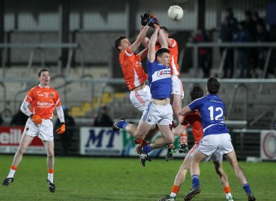 The battle for possession in Armagh.