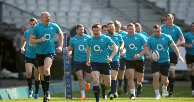 In Pics: Paris presents perfect conditions for rugby as O'Driscoll jogs out on final Captain's Run