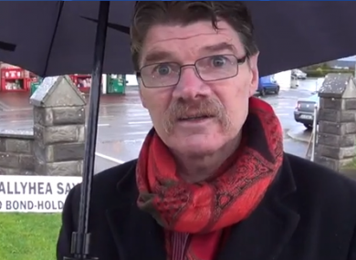 Diarmuid O'Flynn at yesterday's March in Ballyhea