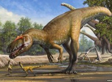 An image of how the dinosaur is believed to have looked
