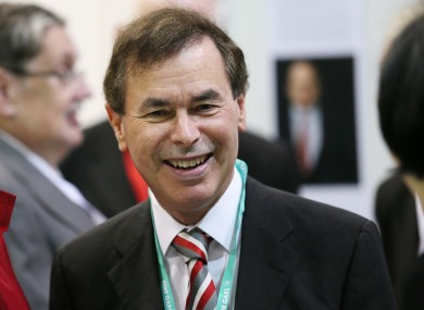 Alan Shatter was all smiles at the Fine Gael Ard Fheis this afternoon