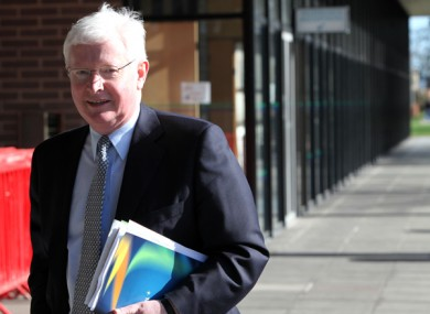 Frank Flannery arrives at RTE studios after the 2011 General Election.