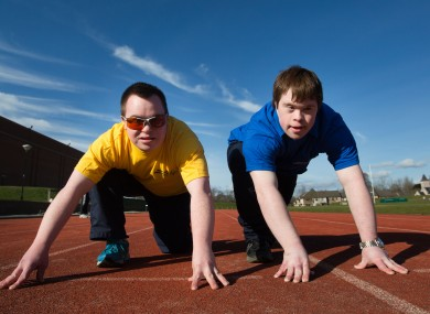 Two of the athletes who will be taking part.