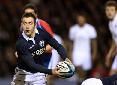 Laidlaw played against Ireland during the Six Nations.