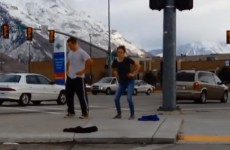 Brother dances in public after losing bet, starts impromptu street party