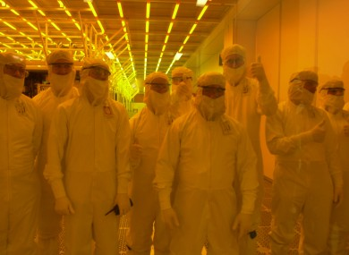 Workers in the Intel factory in Leixlip back in 2004 - the company has a long history with Ireland, coming here in 1989.