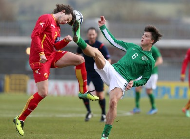 Ireland's Jack Grealish with Ermin Alic of Montenegro.