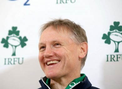 Joe Schmidt at this morning's press briefing.