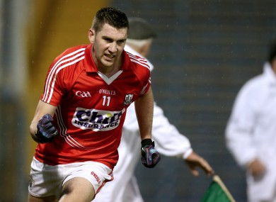 Cork's Mark Sugrue hit their first goal tonight.