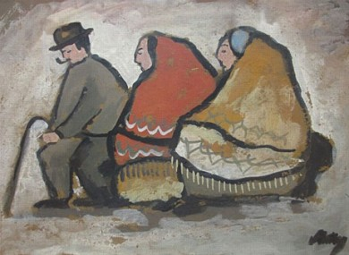 File photo of a Markey Robinson painting (not one of the stolen items).