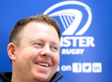 Leinster head coach Matt O'Connor.