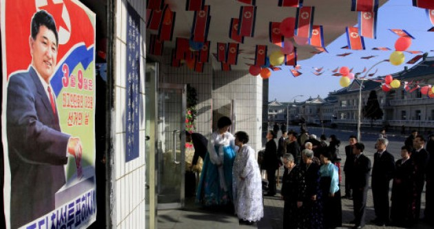 It's election day in North Korea and people have one option: 'Yes'.