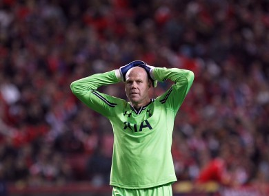 Brad Friedel: beaten from the spot in stoppage time.