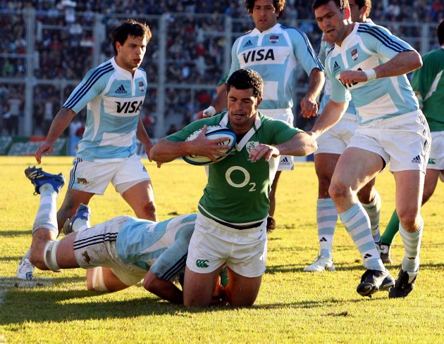 Rob Kearney gets tackled   2/6/2007