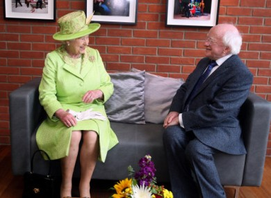 The Queen of England and President Michael D Higgins: BFFs.