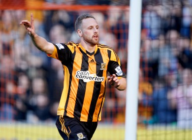 Meyler celebrates his goal.
