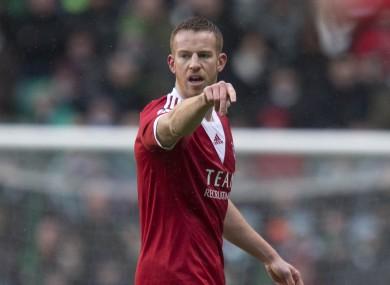 Ireland's Adam Rooney was on target for Aberdeen tonight.