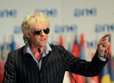 Bob Geldof at last year's summit.